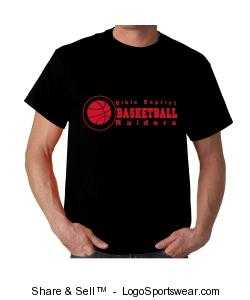 BBCA Basketball/Mens Double Sided T-Shirt Design Zoom